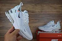 Женские кроссовки Nike air max 270 x Off-white белые Топ Реплика, фото 1