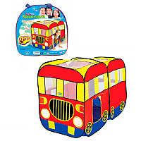 Палатка M 3749 (8шт) автобус, 148-75-98см, 2вх.на липучке,окна/крыша-сетка, в сумке, 37-37-6см