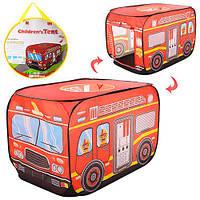 Палатка детская игровая Пожарная Машина Автобус, M 3752, 008658