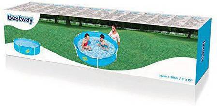 Каркасный круглый бассейн Bestway 56283 (152х38см), фото 2