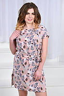 Платье женское с поясом батал  иб413, фото 1