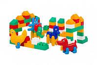 Дитячий набір: конструктор, заєць, кінь, курча, слон
