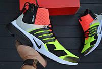 "Кроссовки NikeLab Air Presto x Acronym Mid ""Hot Lava Volt"" (Топ Реплика!)"