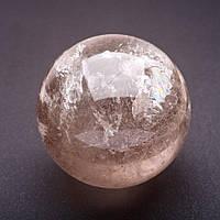 Шар сувенир из натурального камня Раухтопаз d-6,5см