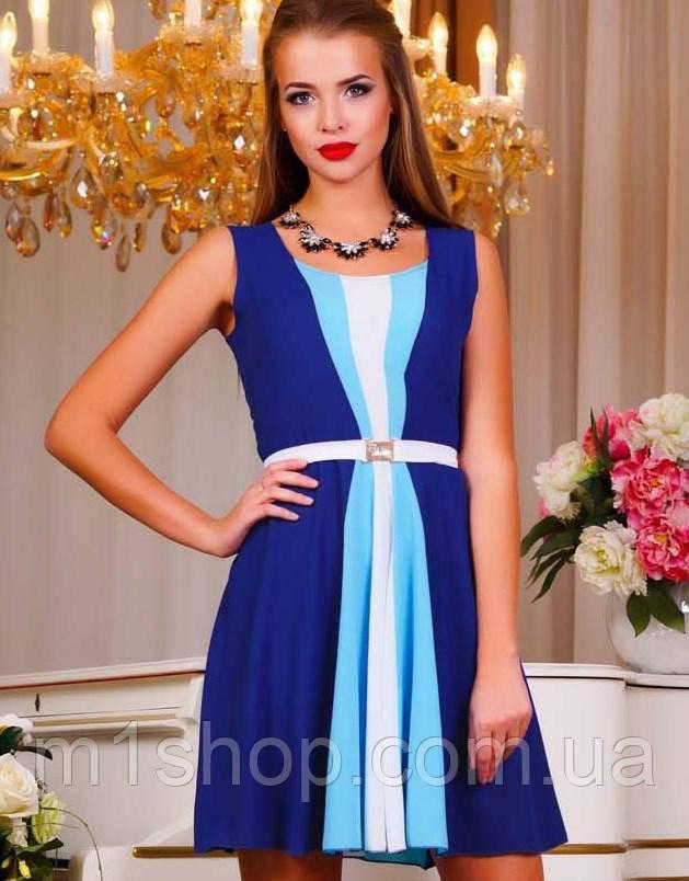 Женское летнее платье без рукавов (0841 svt)