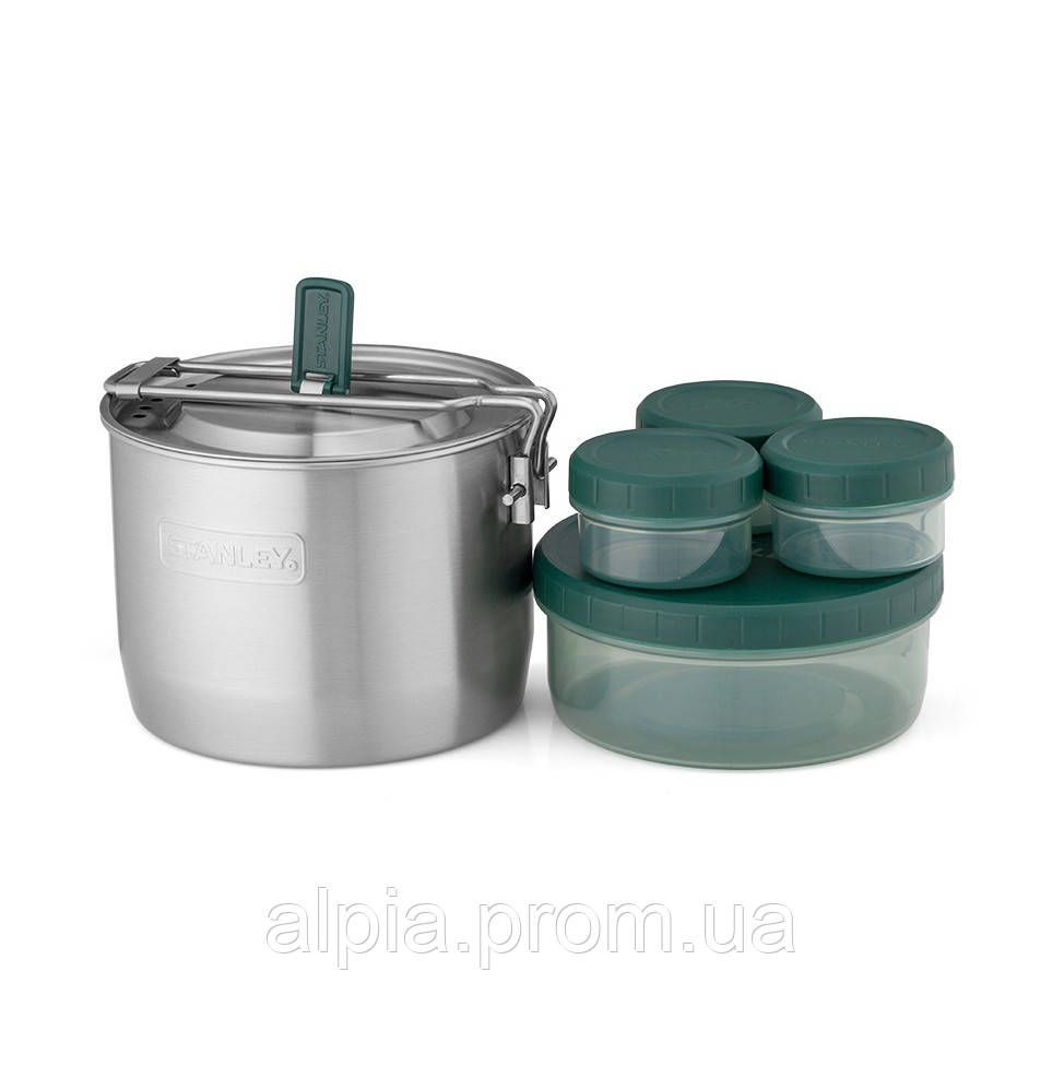 Набор посуды Stanley Adventure: стальная кастрюля 0.95 л и 4 контейнера