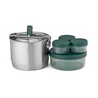 Набор посуды Stanley Adventure: стальная кастрюля 0.95 л и 4 контейнера, фото 1