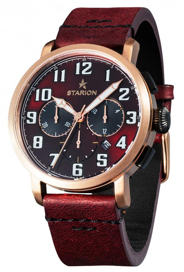 Годинник чоловічий STARION B724A.04 R/Brown коричневий рем.
