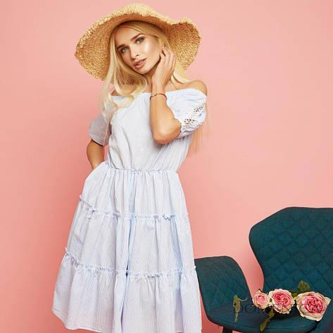 Легкое, летнее, женское платье свободного кроя с мягкой драпировкой (натуральный хлопок)42-60р , фото 2