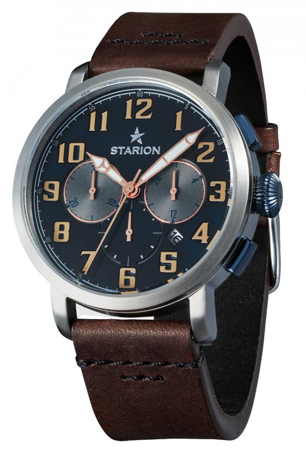 Годинник чоловічий STARION B724A.01 S/Blue коричневий рем.