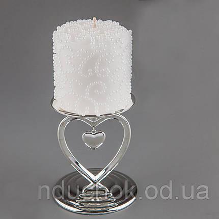 Свадебная свеча Бисер 10 см 014Q, фото 2