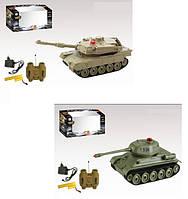 Детский игрушечный танк на радио управлении аккумулятор 33801/33805  2 вида,  в коробке 29,5*12,5*13 см.