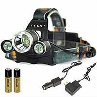 Налобный фонарь Police RJ-3000 (Cree T6+2Q5, 1500 люмен, 4 режима, 2x18650) , фото 1