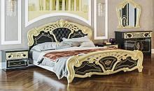 Двухспальная кровать Кармен Нова Люкс черная золото