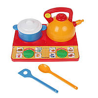 Набір посуду іграшковий Юна господарочка №6 (6 ел.), арт. 048/6, Bamsic