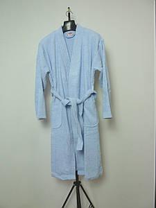 """Махровый банный халат """"HOBBY"""", синий"""