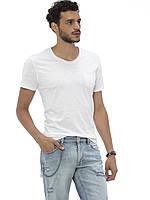 Белая мужская футболка LC Waikiki / ЛС Вайкики с карманом на груди