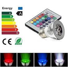 Разноцветные светодиодные лампы с пультом управления