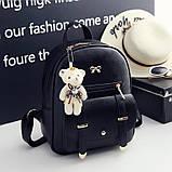 Рюкзак жіночий 4 в 1, набір (чорний), фото 3