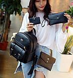 Рюкзак жіночий 4 в 1, набір (чорний), фото 2