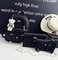 Рюкзак женский 4 в 1, набор (черный), фото 1
