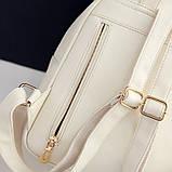 Рюкзак жіночий 4 в 1, набір (чорний), фото 6
