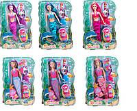 Кукла Русалочка BLD109  6 видов, с расческой, одеждой, в коробке