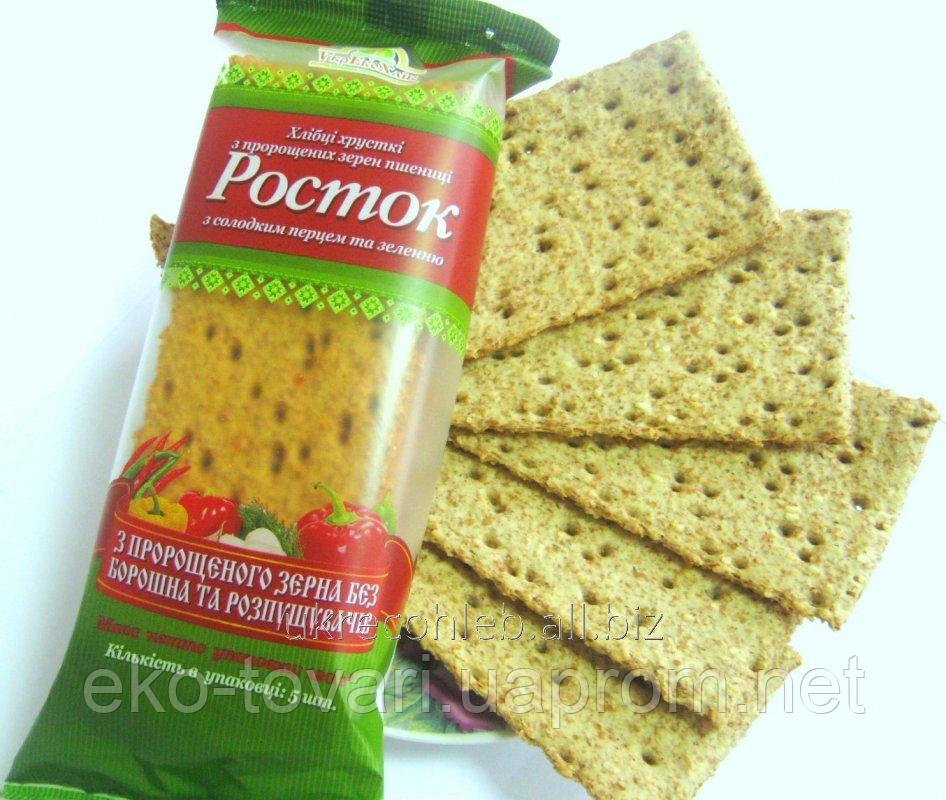 """Хлебцы с паприкой и зеленью """"Росток"""" Тм Укр Эко-Хлеб 120 г"""