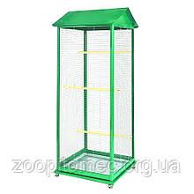 Клітка вольєр для дрібних птахів на колесах.