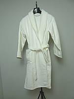 """Вафельный банный халат """"Doga tekstile"""" мужской, белый L"""