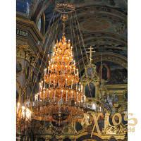 Паникадило, премиальный сегмент, 7-ярусное на 121 свечу, латунь, лак