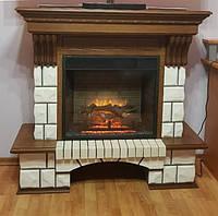 Электрокамин с порталом Fireplace Макао с реалистичным эффектом сгоранием дров и пламени с обогревом