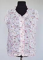 Легкая тонкая женская блузка большого размера