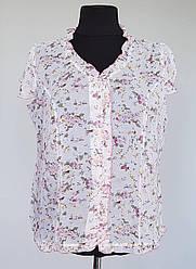 Легкая шифоновая женская блузка на пуговицах