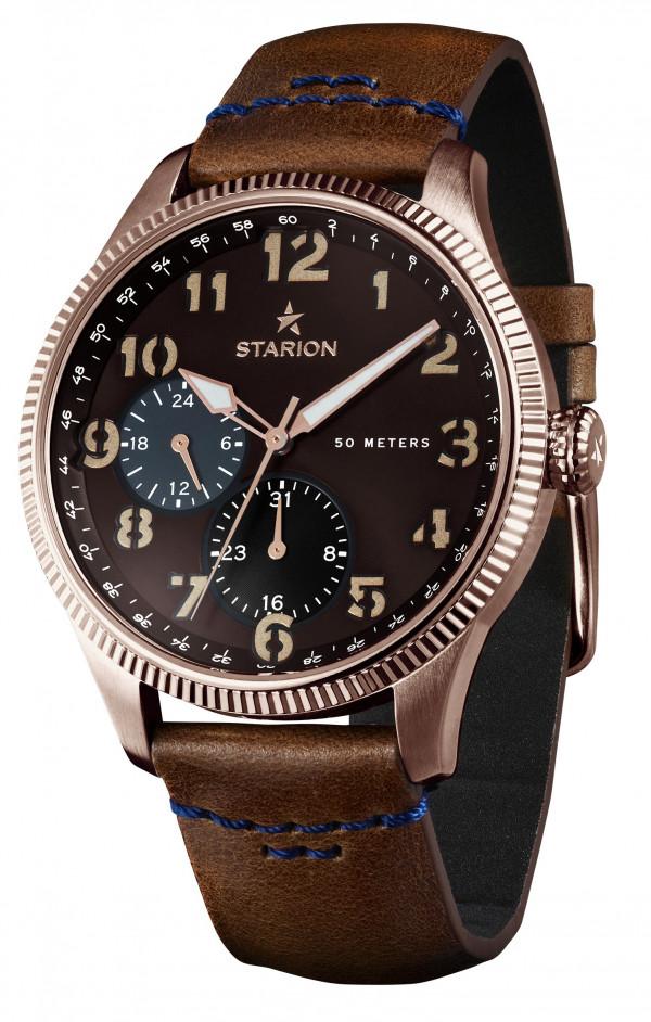 Годинник чоловічий STARION A582 R/Brown коричневий рем.