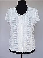 Летняя блузка белого цвета большого размера
