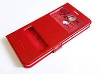 Чохол книжка з віконцями momax для Huawei Y7 Prime (2017) червоний