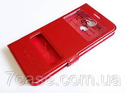 Чехол книжка с окошками momax для Huawei Y7 Prime (2017) красный