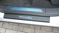 Накладки на пороги Volkswagen Touareg II  2010- 4шт. Карбон