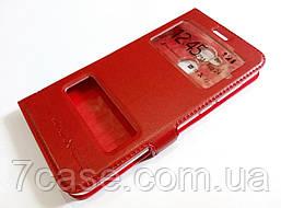 Чехол книжка с окошками momax для Huawei Honor 6A (Pro) красный
