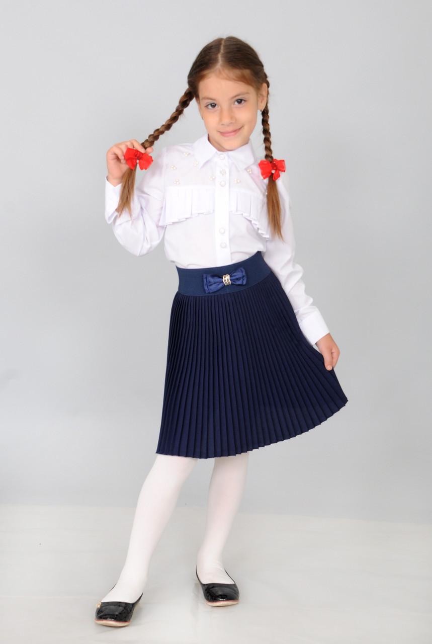 Школьная плиссированная юбка для девочки.6-11 лет