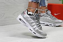 Летние подростковые кросовки Nike air max 95 сетка, фото 3