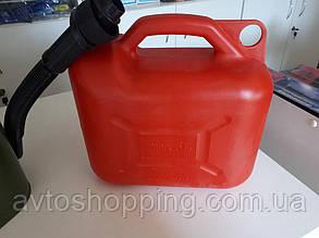 Канистра пластиковая с лейкой 5 литров, для бензина и дизеля с лейкой