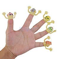 Призрак желтый ( пальчики ) - 6 шт. Страшилки Хэллоуин, фото 1