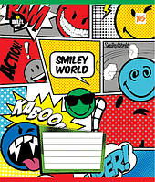 Тетрадь в линию 12 л Yes А5 Smiley World микс 4 обложки (761394)