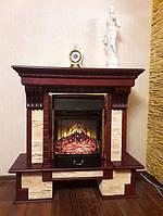 Классический каминокомплект из МДФ Fireplace Франция со звуковым эффектом потрескиванием дров
