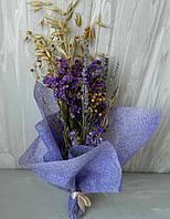 Букет сухоцвітів в подарунковій упаковці 40 см Букет сухоцветов в подарочной упаковке