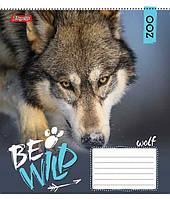 Тетрадь в линию 60 л 1 Вересня А5 Be wild микс 4 обложки (762808)