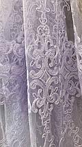 Красивая фатиновая тюль белого цвета №111266, фото 2
