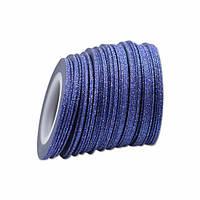 Лента скотч для дизайна ногтей, сахарная Blue 1 мм